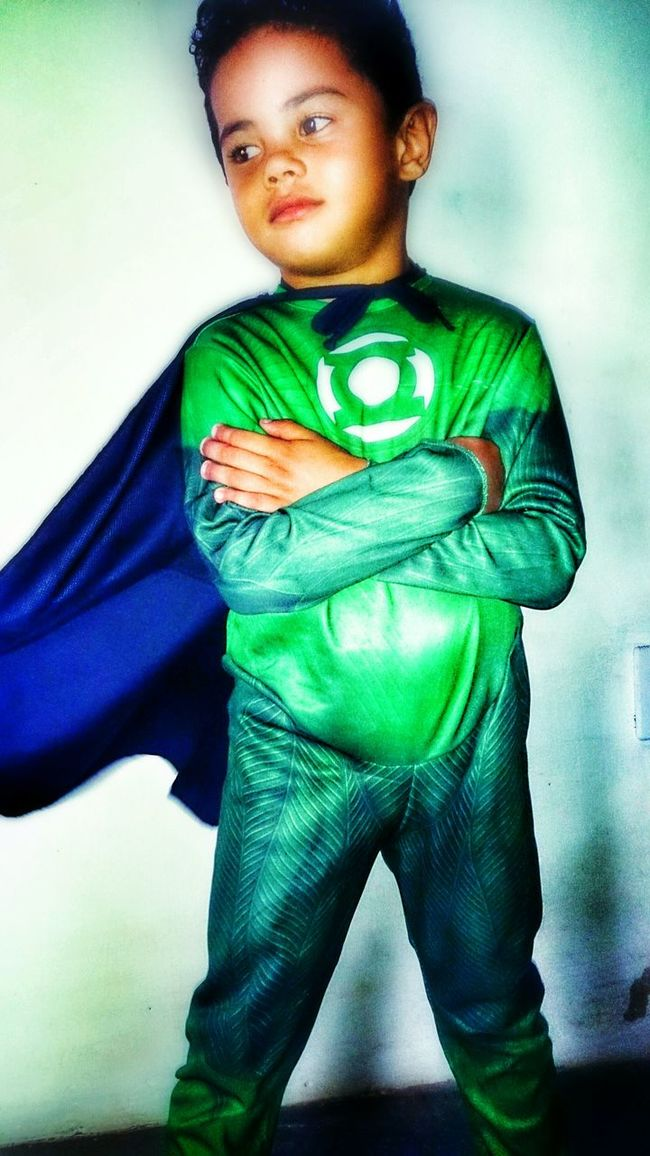 My Cousin Green Lantern  Cosplay Kid Cute Super Hero I Love My Cousin