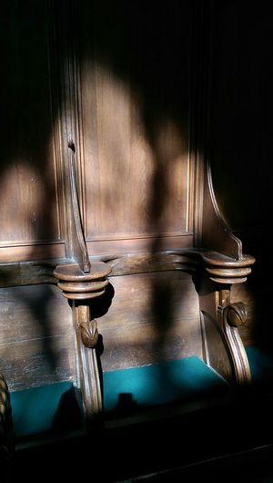 Church Wooden Bank Praying Historical Place Taking Photos Light And Shadow