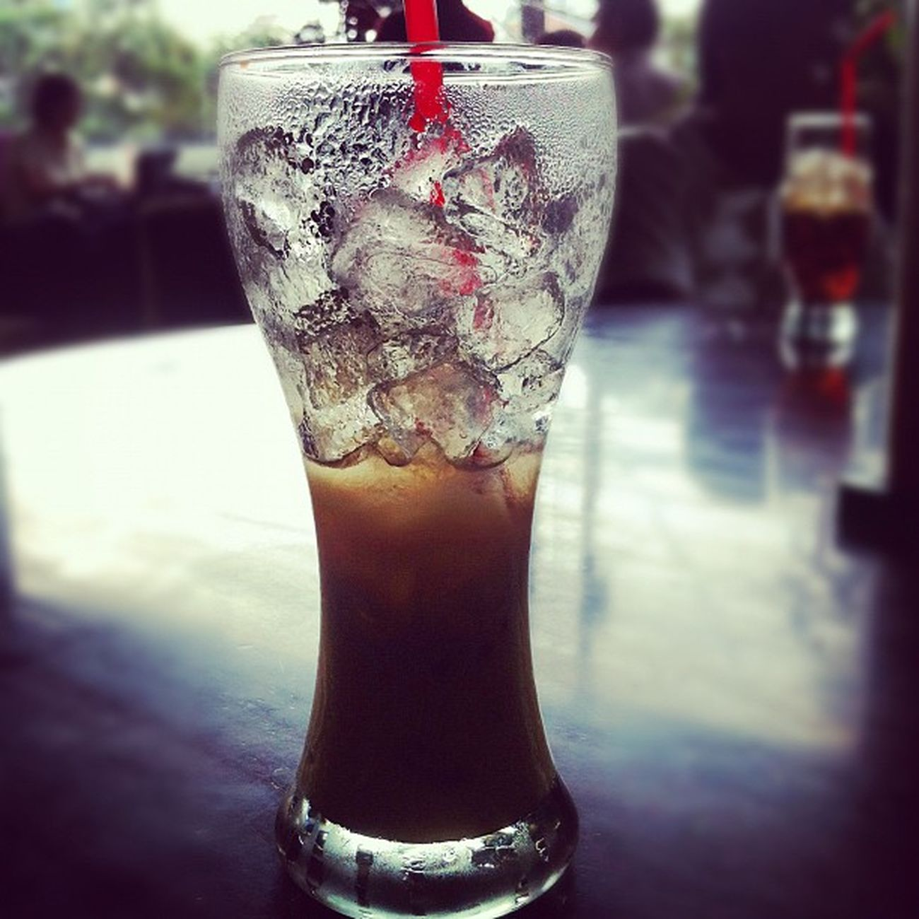 Iced coffee with condensed milk in #hociminh #vietnam Vietnam Hociminh