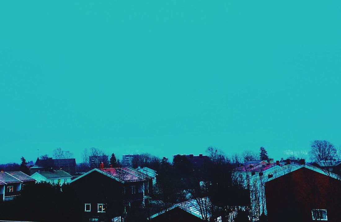 'Afternoonlights' InTheNow Collection Afternoonlights Building Exterior Architecture City Tree No People Rooftop Highangleview Winterhascome Wintersky Turquoise Colored Beautiful Day Cold Weather Urbex Eyeem Urban Landscape Urbanphotography Rooftops Collection Oslo Streetphotography Oslo Love Skyscape Turquoise Landscape MyView ! KariJosefiné✨