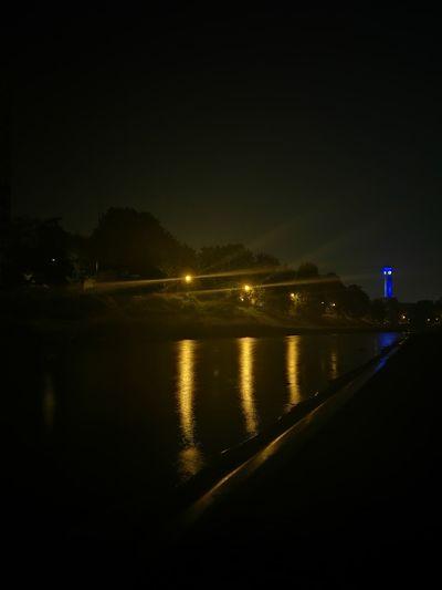 River At Night Ostravacity Ostrava At Night