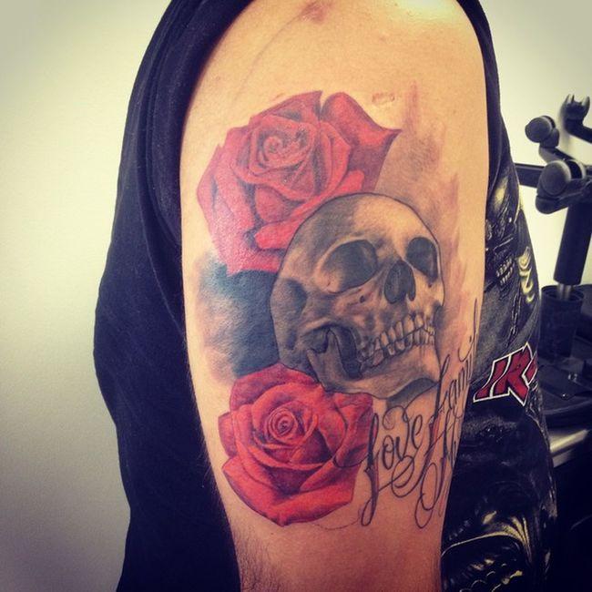 El nuevo integrante By: Omar Nava Ink Skull Iron Maiden LuckyTattoos Lucky Tattoos Bestink Love Family Music