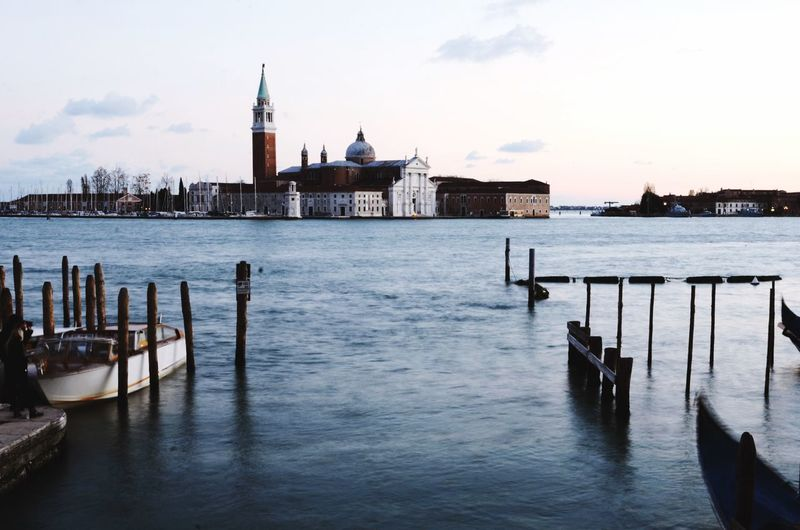 Venice, Italy Sea Water Long Exposure Horizon Over Water Horizon