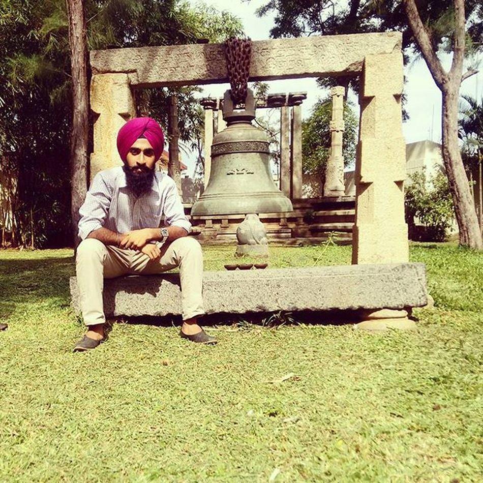 "Life meh kya mila ""GHANTA"" Beachpark Goldenbeach Chennai ECR Eastcoast Outskirts Beach Temple Jatt Kundimuchh Desi Gabru Ghanta Bell Desibeard"