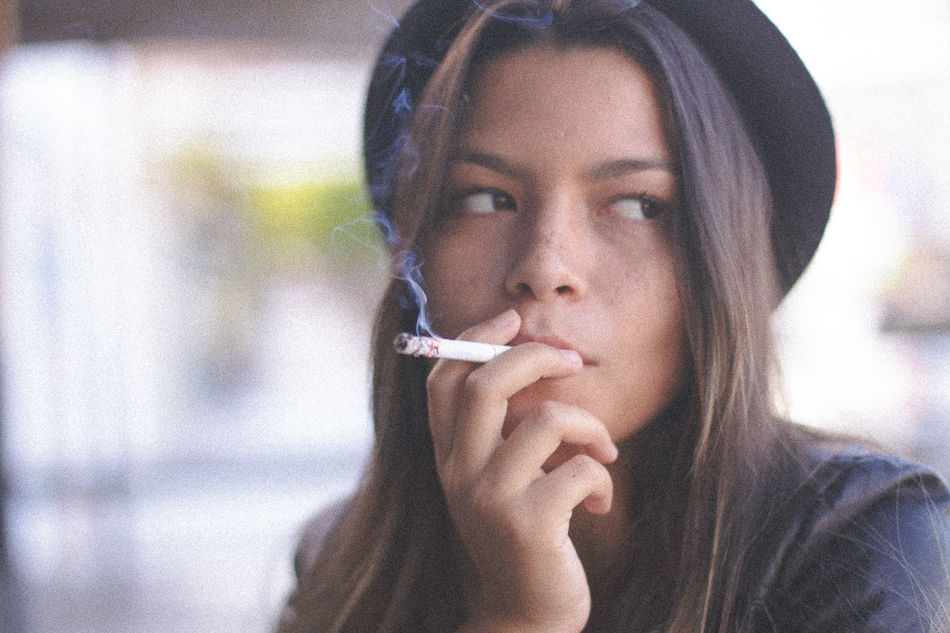 Beautiful stock photos of cigarette,  20-24 Years,  Beauty,  Casual Clothing,  Cigarette
