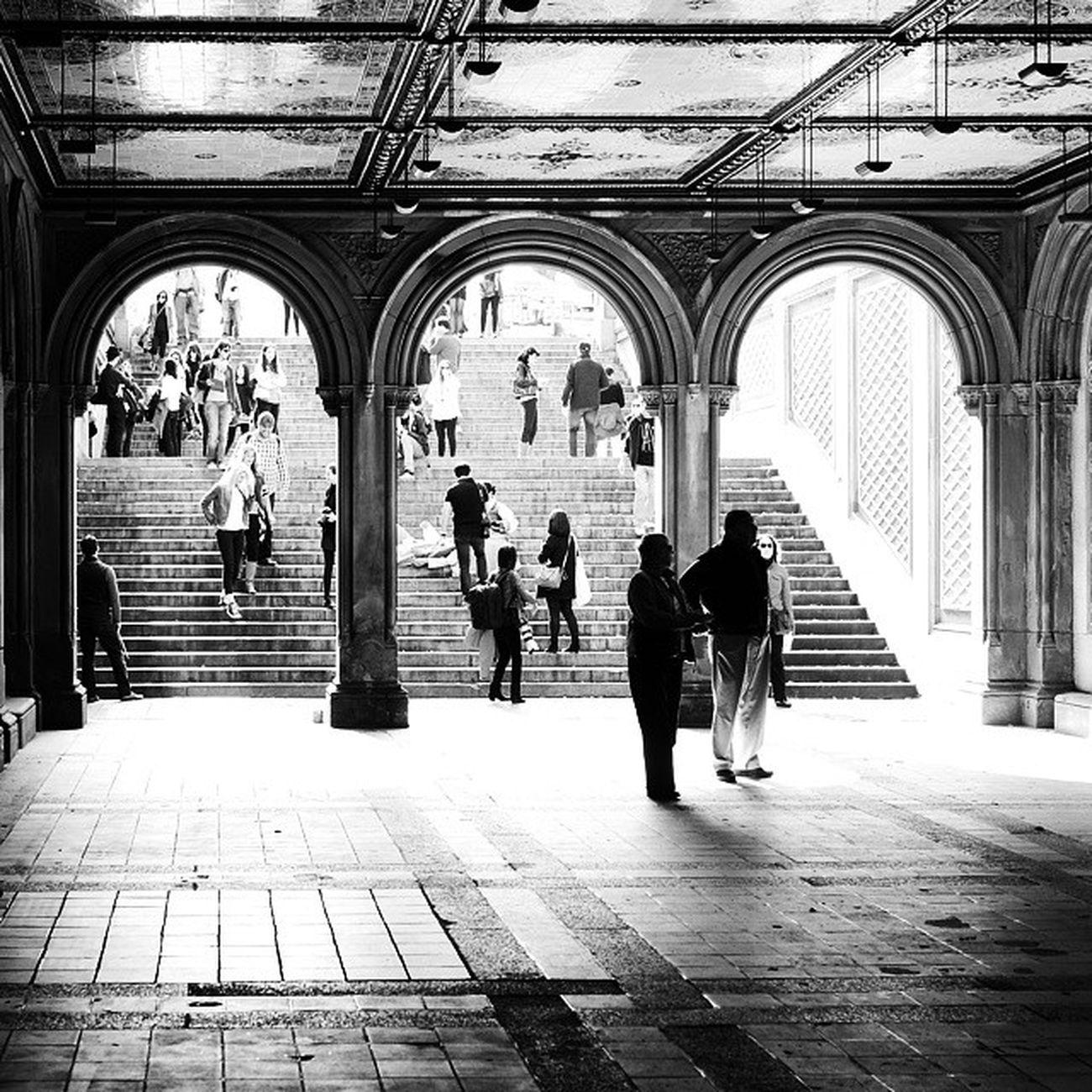 Newyork CentralPark Bw People Architecture Summer Sommar Svartvitt Manniskor Arkitektur ImagesofNYC