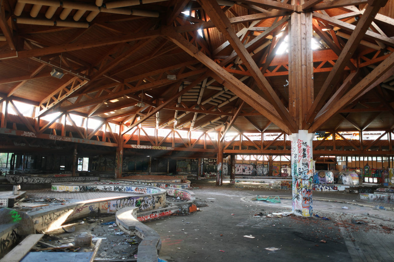 built structure, abandoned, architecture, indoors, industry, no people, day, factory