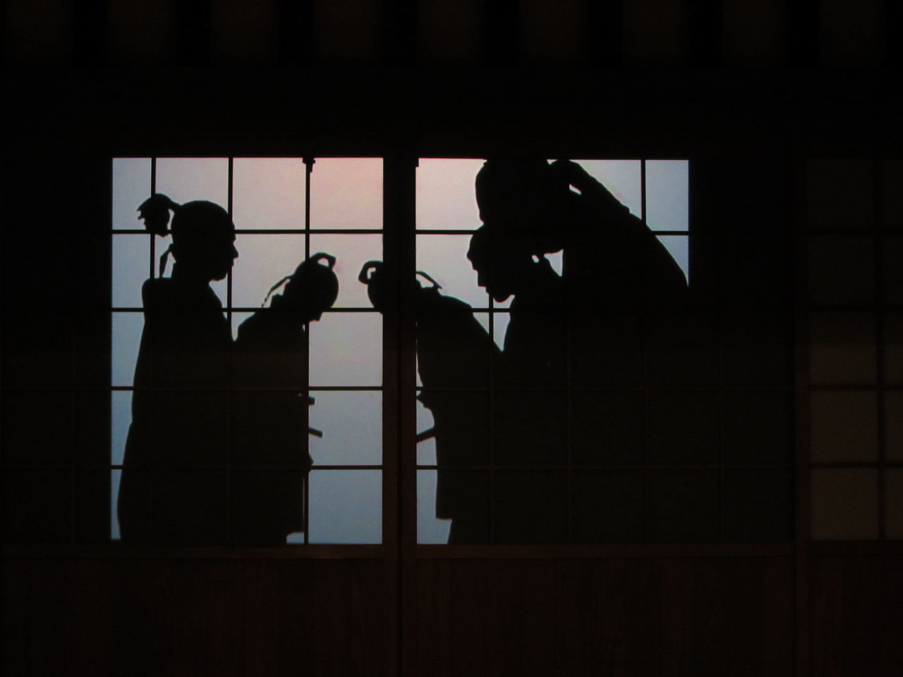 Silhouettes Bowing Bow Bowing Japan Japanese Culture Performance Shadow-art Shadows Shadows & Lights Silhouette Silhouette Silhouettes Of People Kokura Catsle Kokura Castle Kokura Jyo Kokura 小倉城 小倉