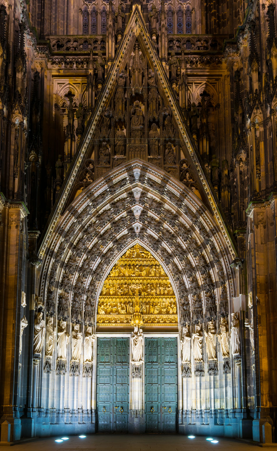 Arch Architecture Building Exterior Built Structure Cathedral Door Entrance Gate History Illuminated Night No People Religion Spirituality Tourism Travel Destinations