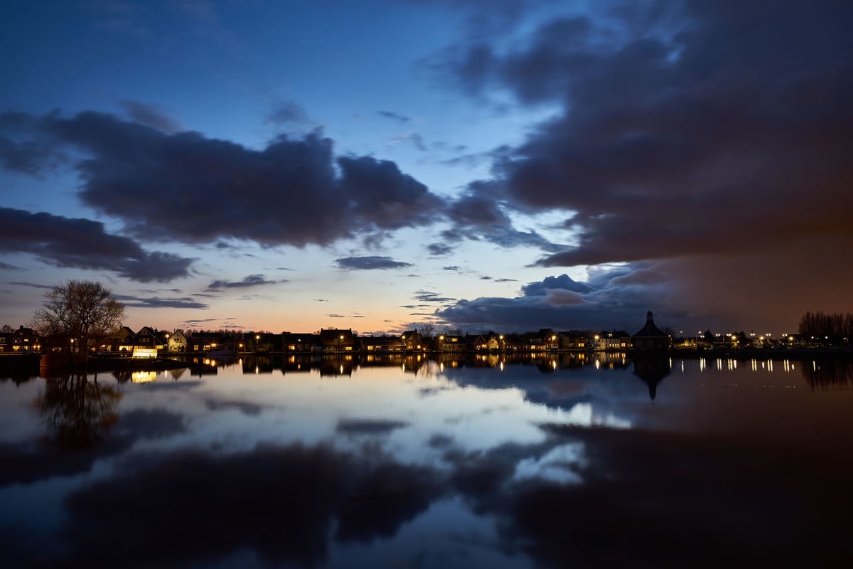 Halfway there Clouds And Sky Cloudy Dusk Dutch Europe Halfweg Holland Holland❤ Illuminated Lake Long Exposure Nederland Netherlands Q Reflection Scenics Sky Skyline Slow Shutter Tranquil Scene Tranquility Twilight Water Waterfront Waterscape