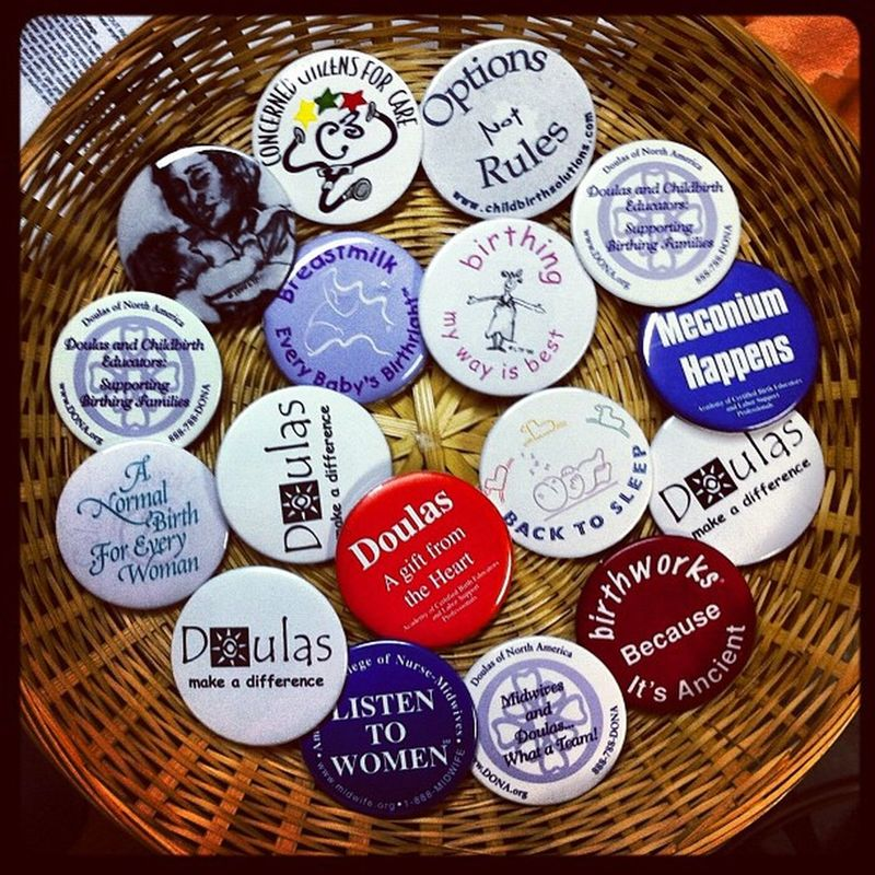 Downsizing. Anyone need buttons? Make me an offer. Free shipping! #birthprofessionals #doulas #midwives #doula #childbirth Doula Childbirth Midwives Doulas Birthprofessionals