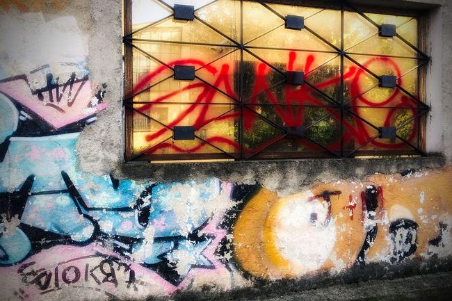 Art Close-up Colours Day Drawing EyeEm Gallery Graffiti Horizontal No People Street Street Photography Wall Windows