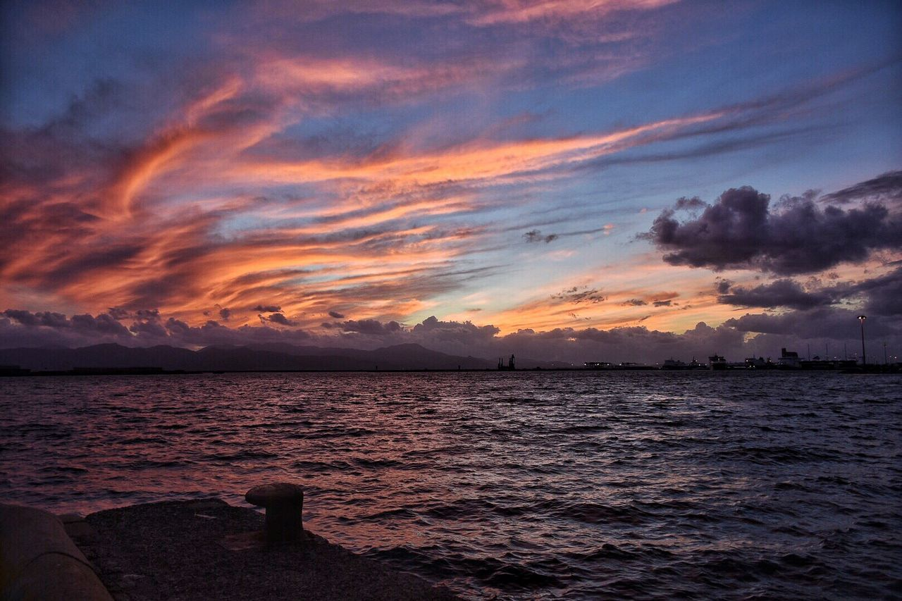 Sky Cloud - Sky Sunset Sea Beauty In Nature Scenics Outdoors Dramatic Sky Horizon Over Water Water Nature Tranquility Beach Tranquil Scene No People Day Paradise ❤ Sardinia Sardegna Italy  EyeEm Gallery EyeEm Best Shots Eyem Best Shots Nature_collection Spettacolodellanatura EyeEmBestPics Cagliari, Sardinia Cagliari Urban City