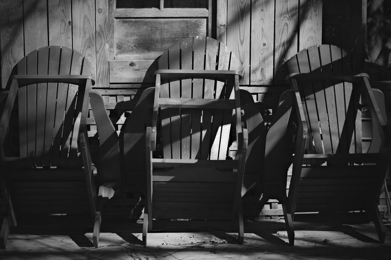 Adirondack Chairs EyeEm Best Shots - Black + White Fujifilm_xseries Fujixpro1 56mm F1.2 Deck Chair Deckchairs Monochrome Photography EyeEm Best Edits Polarr Blackandwhite Black & White Wabi-sabi