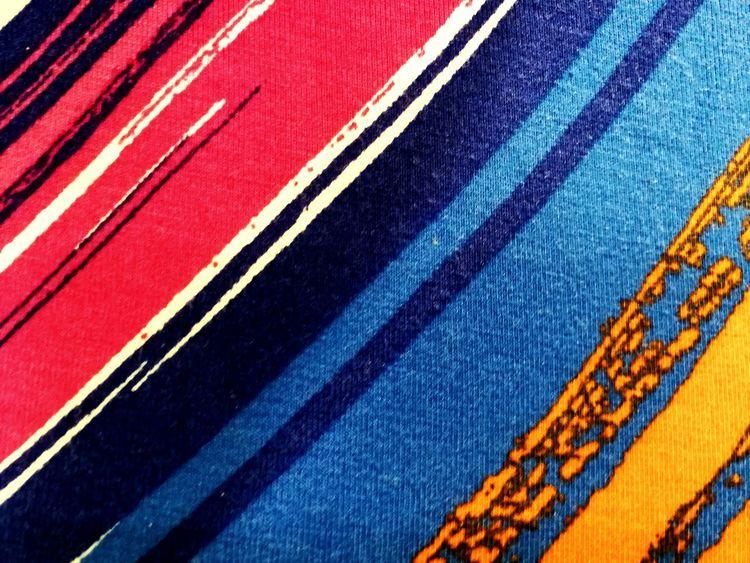 Line S Stripes Dark Pink Orange Blue Close Up Clothing Art Multicolor