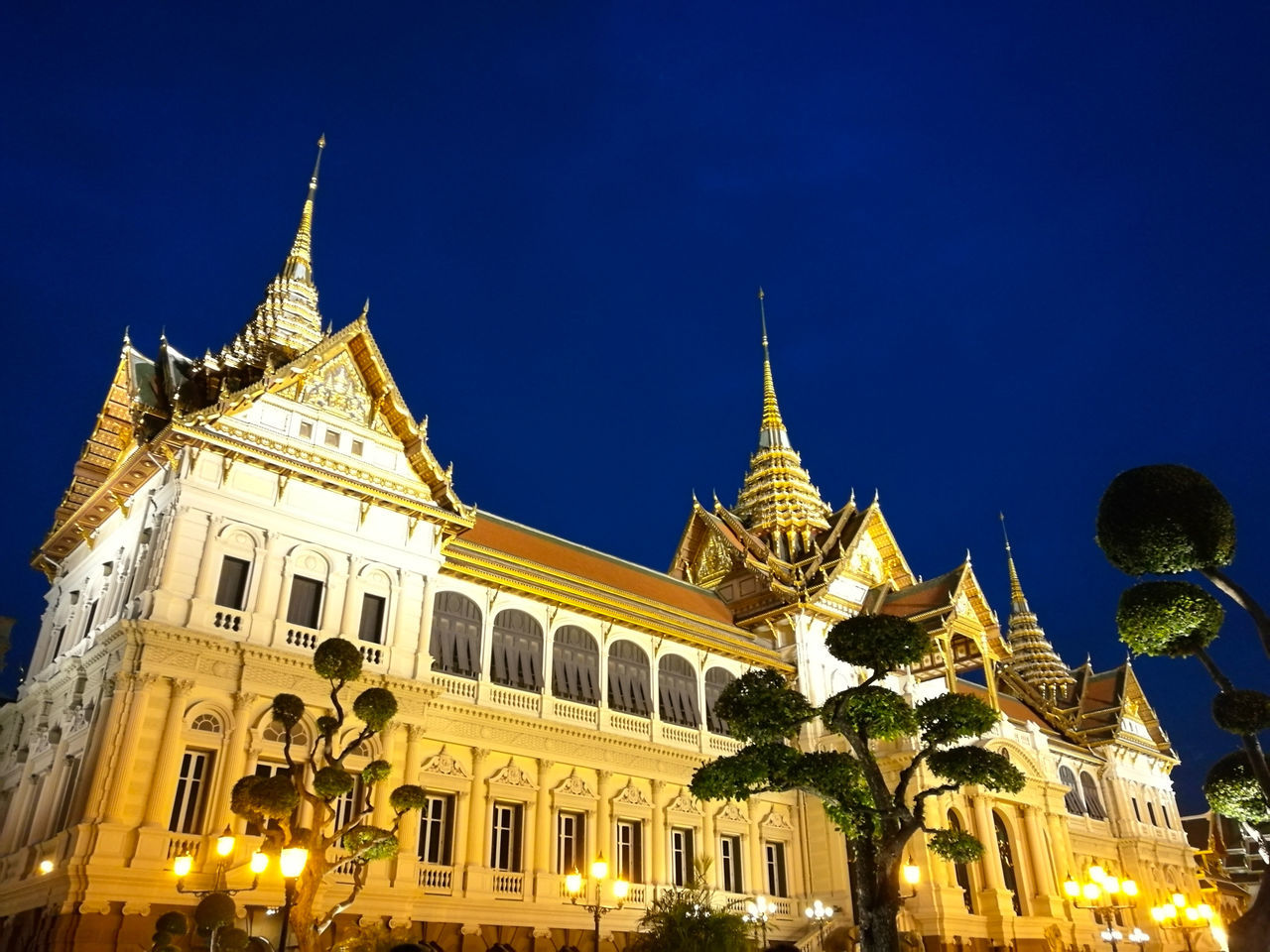 Grand Palace Bangkok Thailand Heritage Building Architecture Blue Travel Destinations Gold Colored No People Golden Light Golden Hour Architecture Thai Architecture Thailand_allshots Thailand Culture Nightphotography