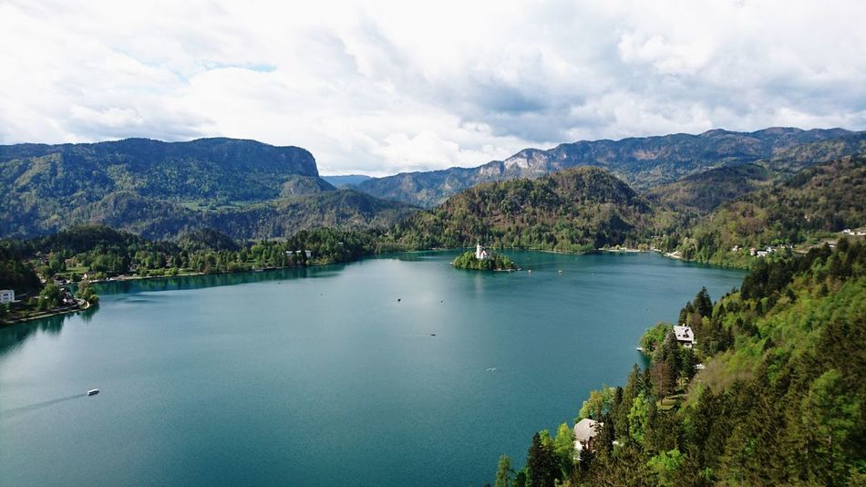 Bled Lake Slovenia Castle View  Lake View Landscape Natural Beauty Water Springtime Mountain View Julian Alps Xperiaphotography