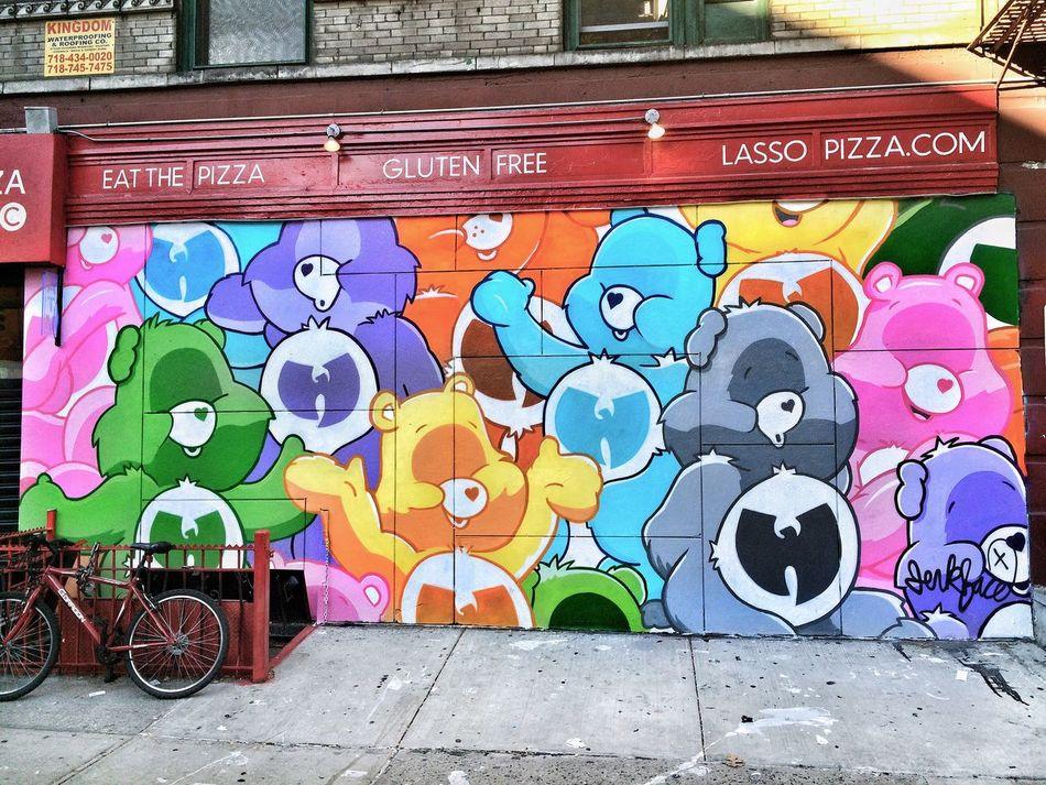 Wu Tang Clan Care Bears Art: @incarceratedjerkfaces 🐻 Jerkface IncarceratedJerkFaces Care Bear Wu Tang Clan Bear ArtWork Street Art Street Art/Graffiti Art, Drawing, Creativity NYC Photography Streetphotography
