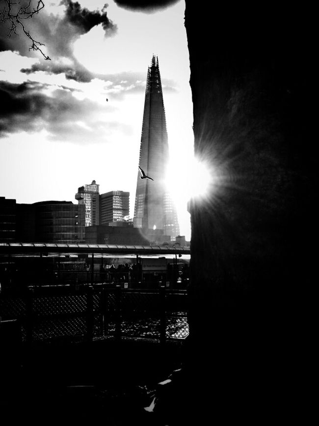 First flight Blackandwhite Black And White The Shard London Sun_collection Bws_worldwide Bnw_friday_challenge Hot_shotz Bwstyles_gf Bw_collection Eye4black&white