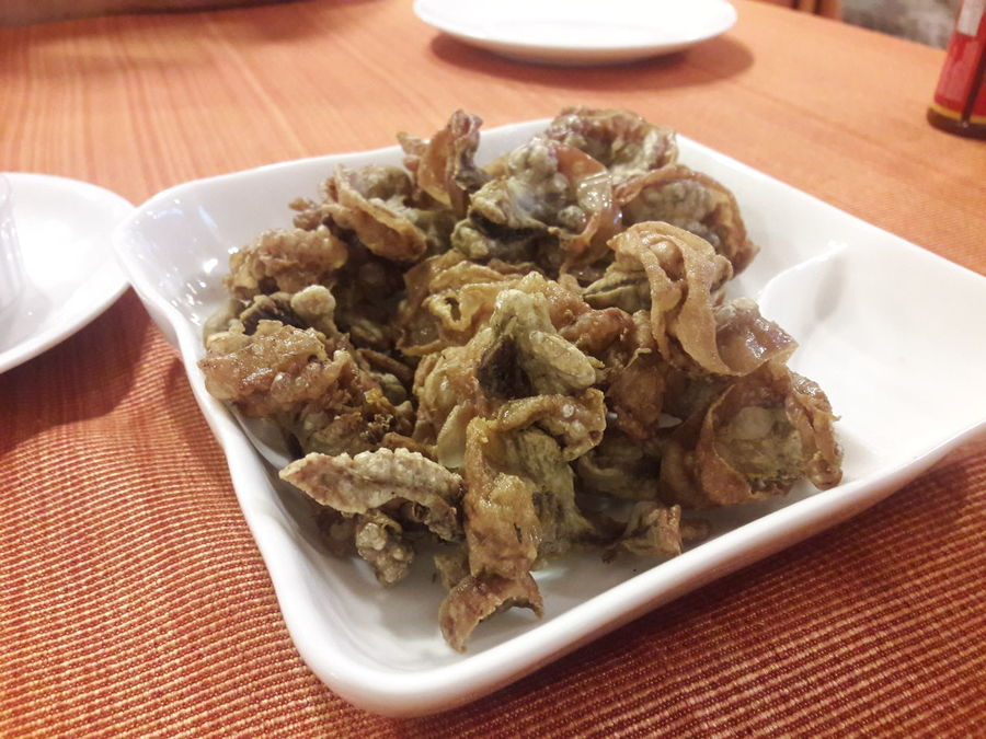 Chicharon Bulaklak EyeEm Selects Food Intestines Pork Table No People Plate Indoors  Ready-to-eat Close-up Day Freshness