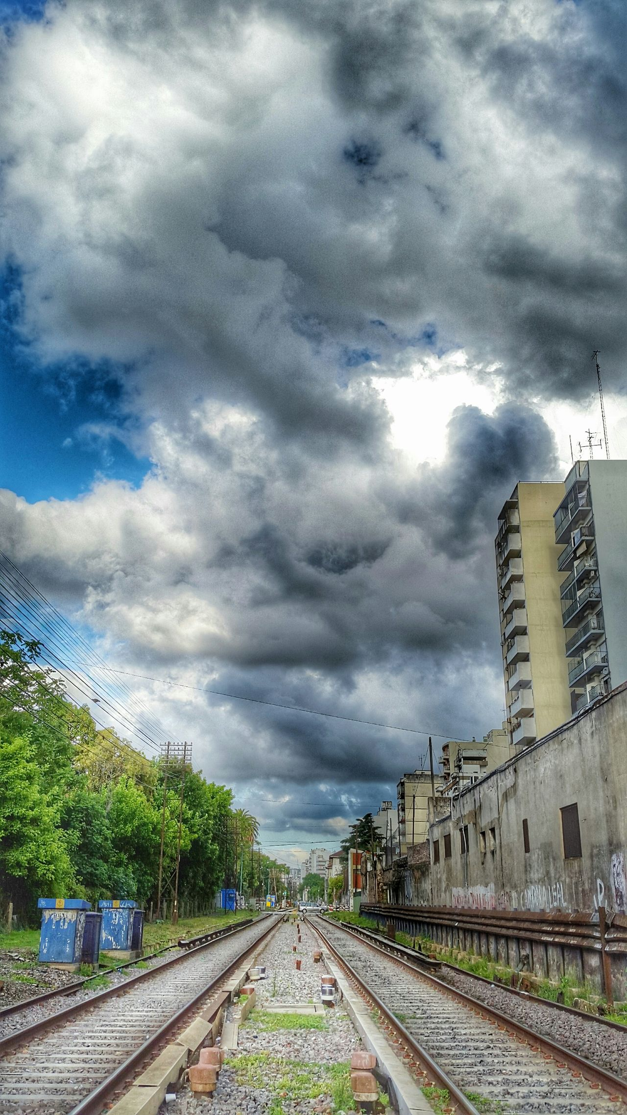 Argentina Photography Railway Buenos Aires, Argentina  EyeEm Buenos Aires Crossroads Railroad Clouds And Sky Hdr_Collection HDR