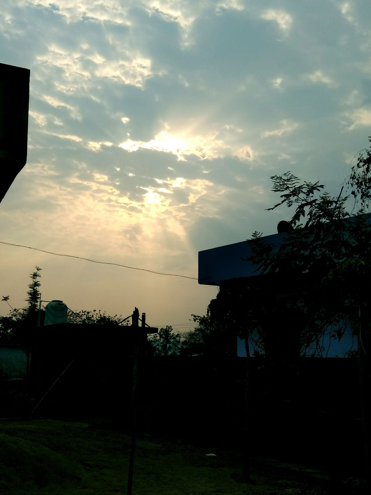 Sun rise 🌼 morning click Cloud - Sky Sky Tree No People Building Exterior Outdoors Day Awesome_shots Lovedit Architecture