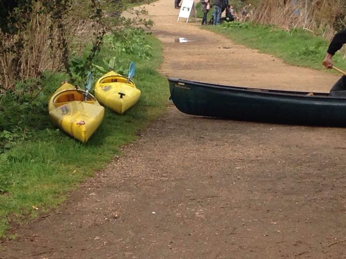 Twin kayaks Yellow Taking Photos Hello World Colour Enjoying Life Water - Collection Taking Photos Purist No Edit No Filter Trees River Cold Joe Ford Boats