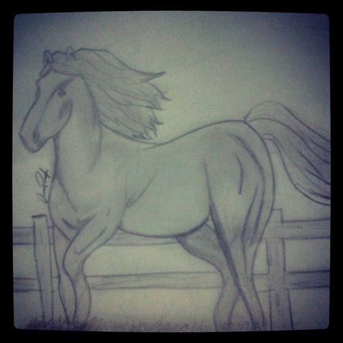 El resultado fail de dibujar un caballo :'( Horse Draw Caballo Cincodelamañana Plis