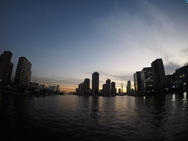 View Sunset Japan Photography Japan Taking Photos Taking Pictures Relaxing From My Point Of View Cityscapes Streetphotography River River View Wide Angle Sumidariver Bridge Riverside Riverside Photography