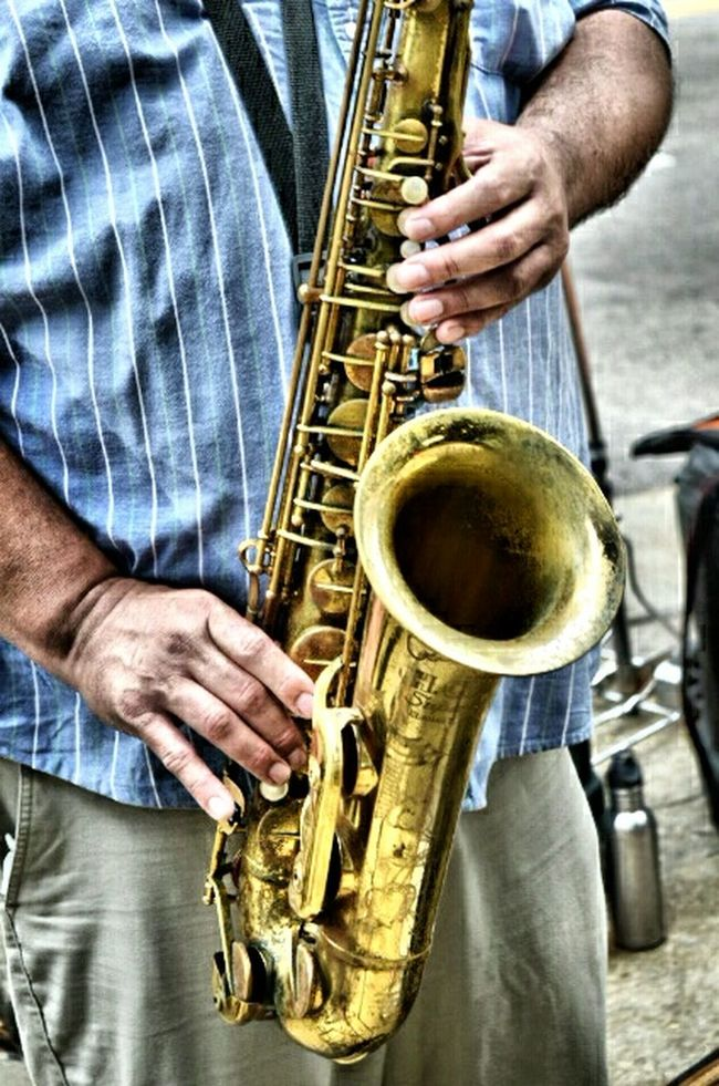 Holding Person Food And Drink Men Close-up Freshness Outdoors Beverage Temptation Indulgence Street City Life City Musician Music Sax Saxophone Saxophonist Brass Brass Instruments