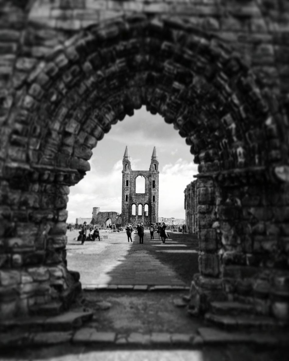 Scotland Architecture Built Structure Black & White Travel Destinations Contrast Cathedral History