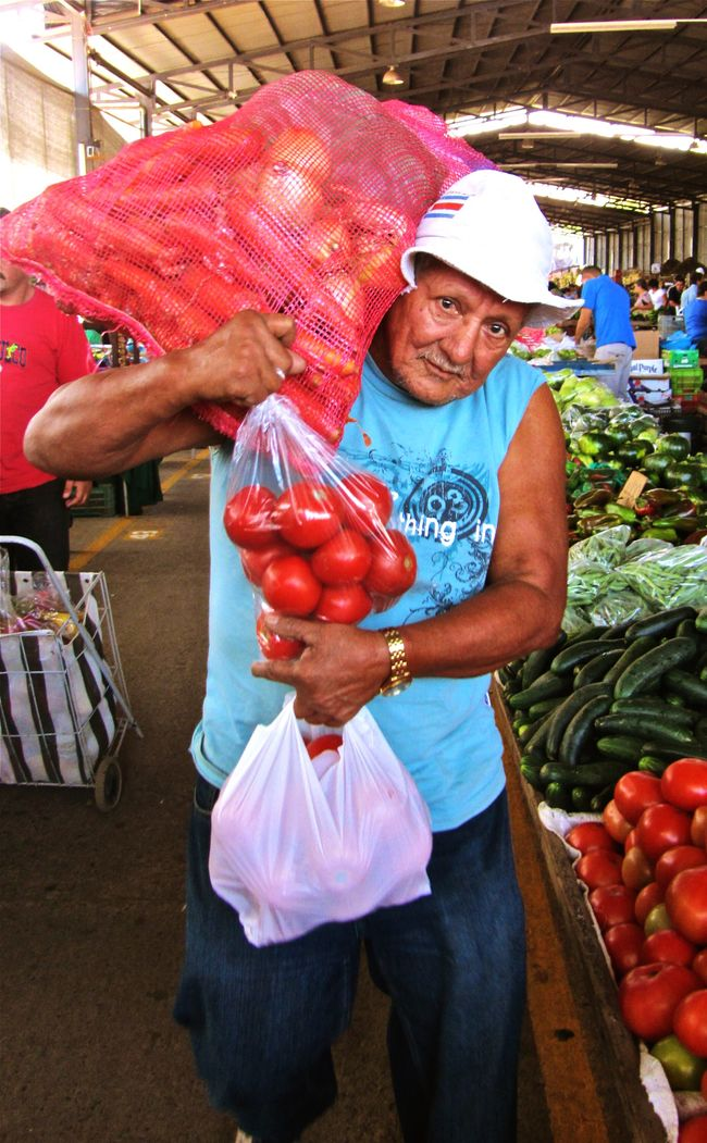 People And Places coming out of the market... Costa Rica Market Everyday Lives