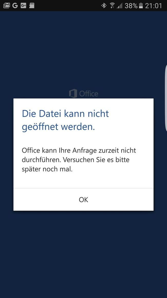Failure  Office Microsoft Fehlermeldung Word Smartphone Printscreen Coruption