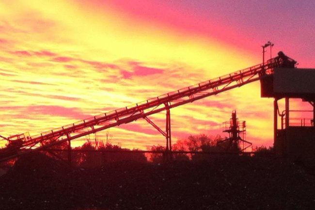 Stunning Sunrise Sunrise Industrial Biodiversity Morning Sky Barham Suffolk