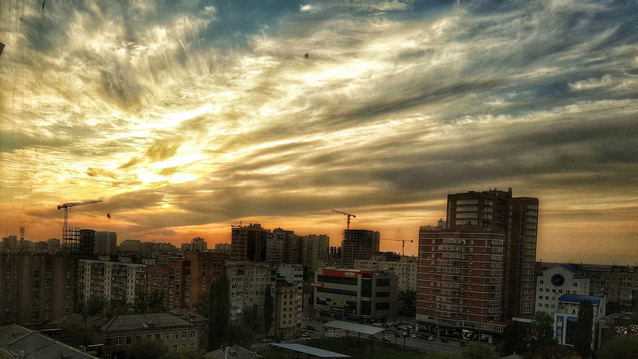 Sky Rostov-on-Don Rostov-na-Donu Zakatttt Sunset