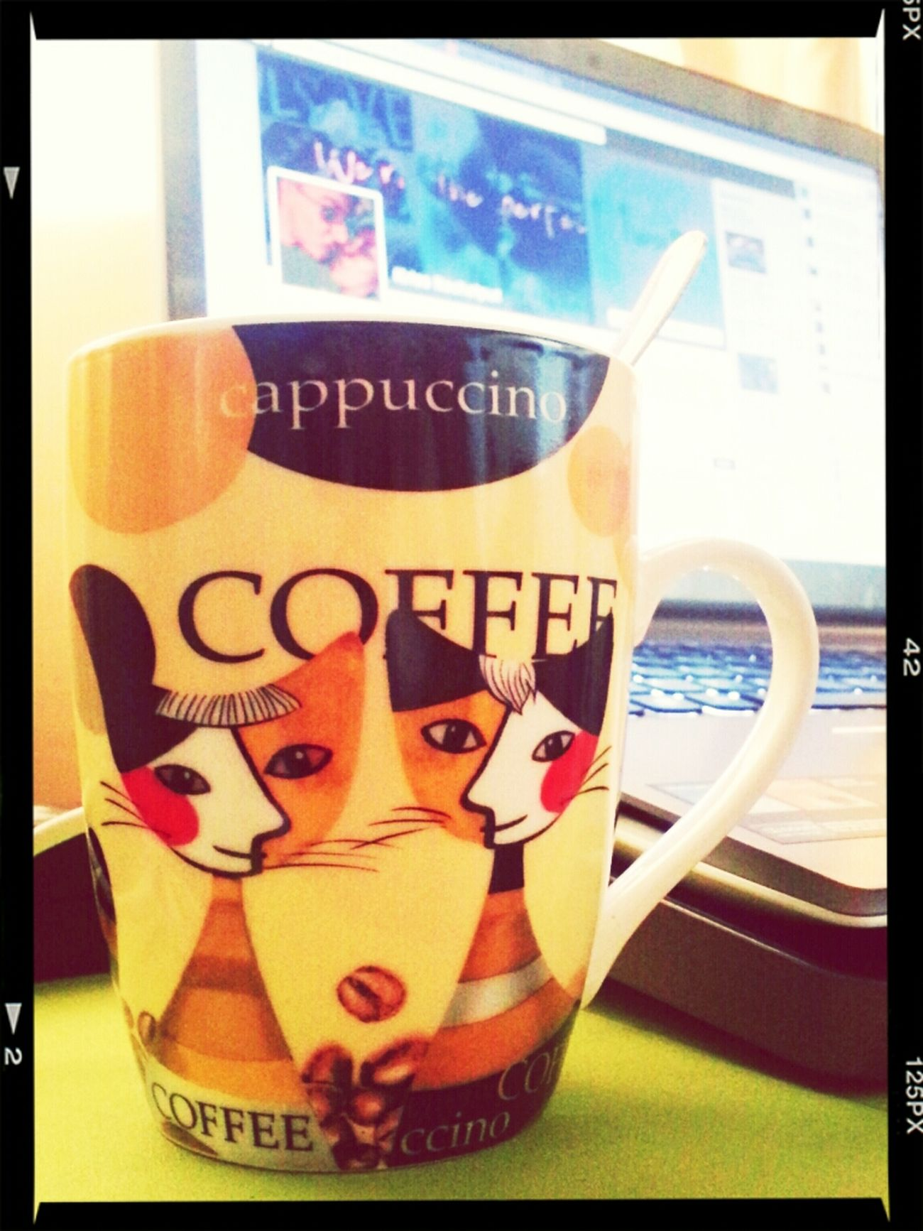 Hello World Goodmorning :) Coffee+lappy Enjoying Life