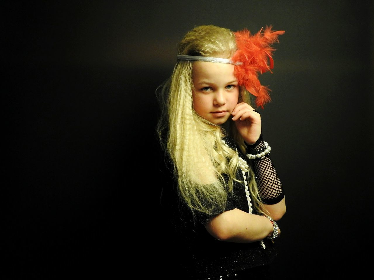 Blonde Daughter Retro Chicago Mafia  Style Black Background Homephotography EyeEmNewHere The Portraitist - 2017 EyeEm Awards Beauty Red Colors Of Sankt-Peterburg Sankt-Petersburg Russia