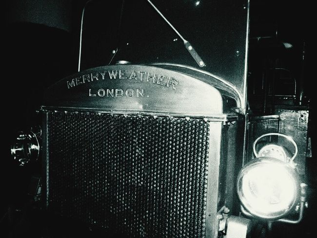 Merry weather museum Merry Weather Black & White Vintage Firetruck Firefighters Uruguay