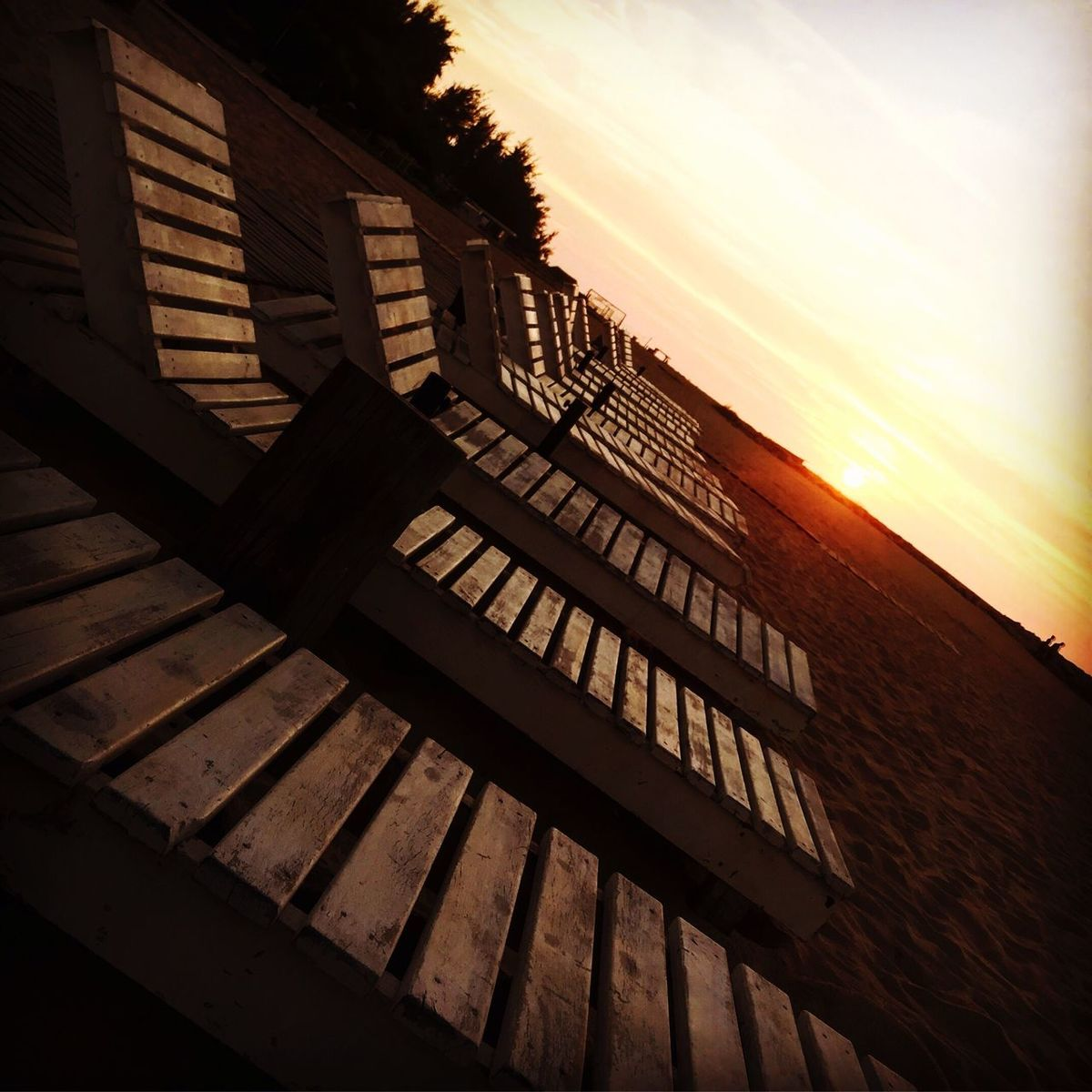 Sunset Built Structure Building Exterior Architecture No People Sunlight Silhouette Sky Steps Outdoors Day