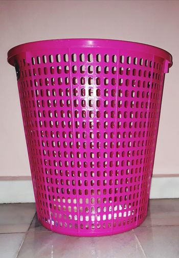 Huge Pink basket Ponk Basket Pink Basket Cleanliness Peach Wall Cloths Basket Lighting Indoors  Pink Color Domestic Room No People Day