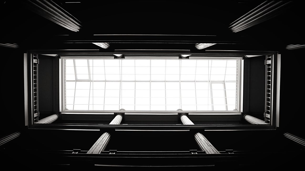 Lookingup Hotel Hotel Lobby Vevey Architecture Blackandwhite Indoors  Home Interior Window