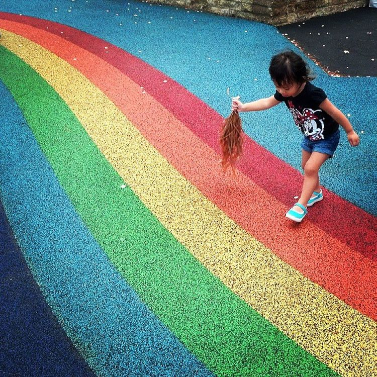 My kids are more interested in sweeping the flower petals off the playground Hawaiikai Hkai EastSide Windward oahu hawaii skl sgo ia @sofsyd mexicans