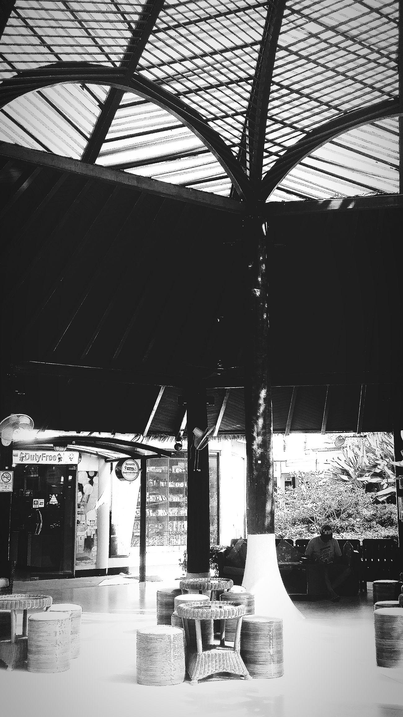 Koh Samui Airport Architecture Interior Travelphotography Bnw Bnw_life Bnw_travel Bnw_captures Bnw_world Bnw_kohsamui Bnw_thailand Bnwcollection Bnwphotography Eyeemcollection Eyeemphotography Eyeemthailand Eyeemkohsamui Eyeem Architecture