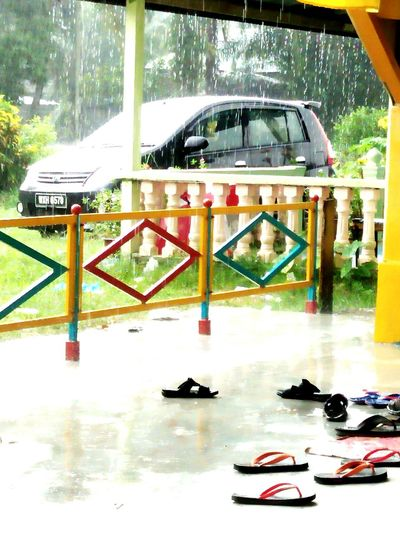 Raining Raining Outside Car Day Village Outside My Window Slippers Nature Makes Me Smile Fresh Air... Oh My Sweet Day