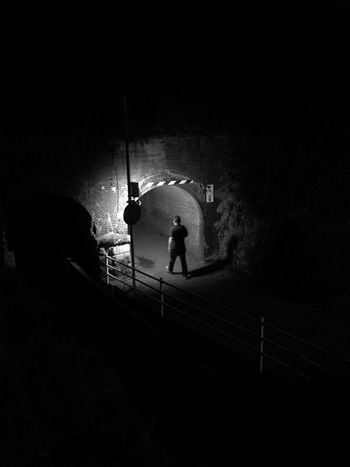 Monochrome Black And White Tunnel