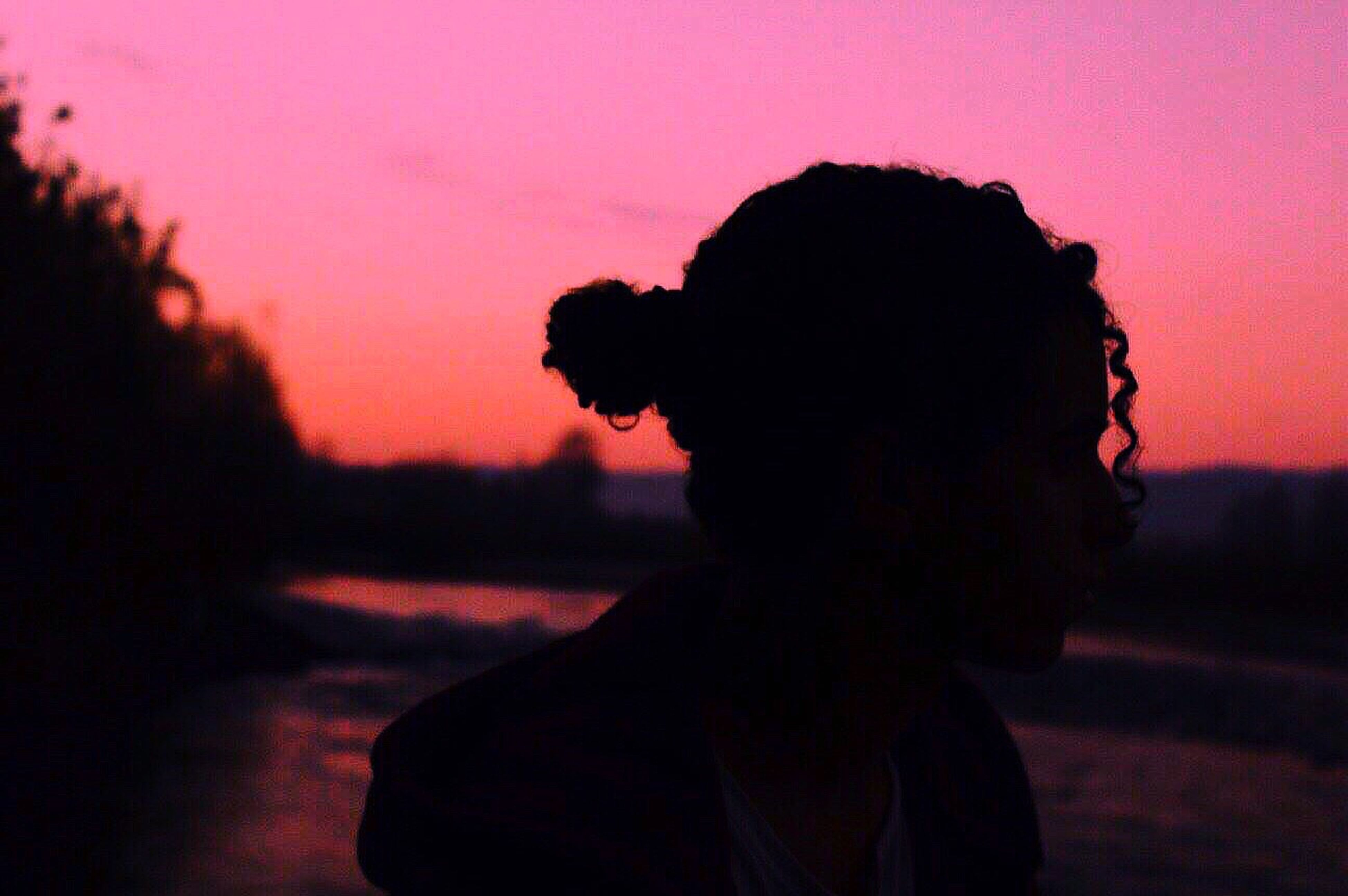 silhouette, sunset, only men, men, one person, adult, one man only, depression - sadness, headshot, people, adults only, close-up, sky, outdoors, day