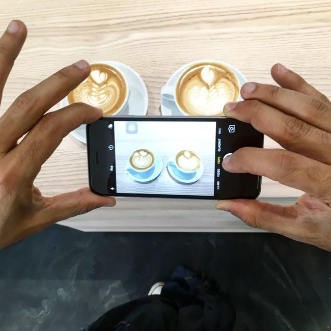 Person Holding Cropped Part Of Leisure Activity Lifestyles Personal Perspective Human Finger In Front Of Freshness Memories Modern Coffee