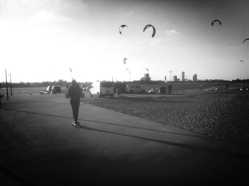 Enjoying The Sun Skateboarding Too Many Thoughts Running Through My Head !!! Relaxing