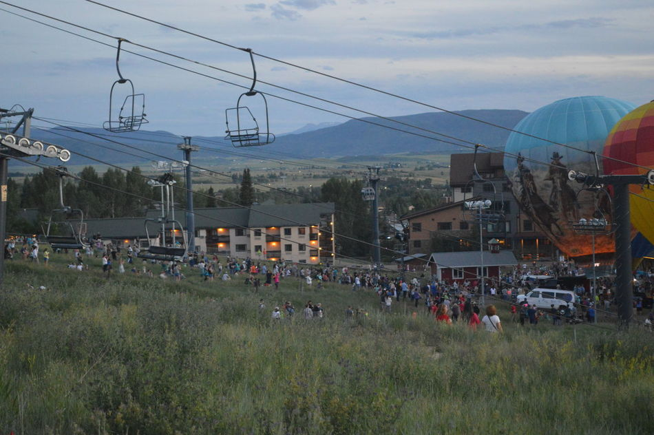 Chairlift Evening Hot Air Balloons July Ski Resort  Small Town Event Steamboat Steamboat Resort Steamboat Springs Summer Summer Event Summer Views Summertime Showcase July