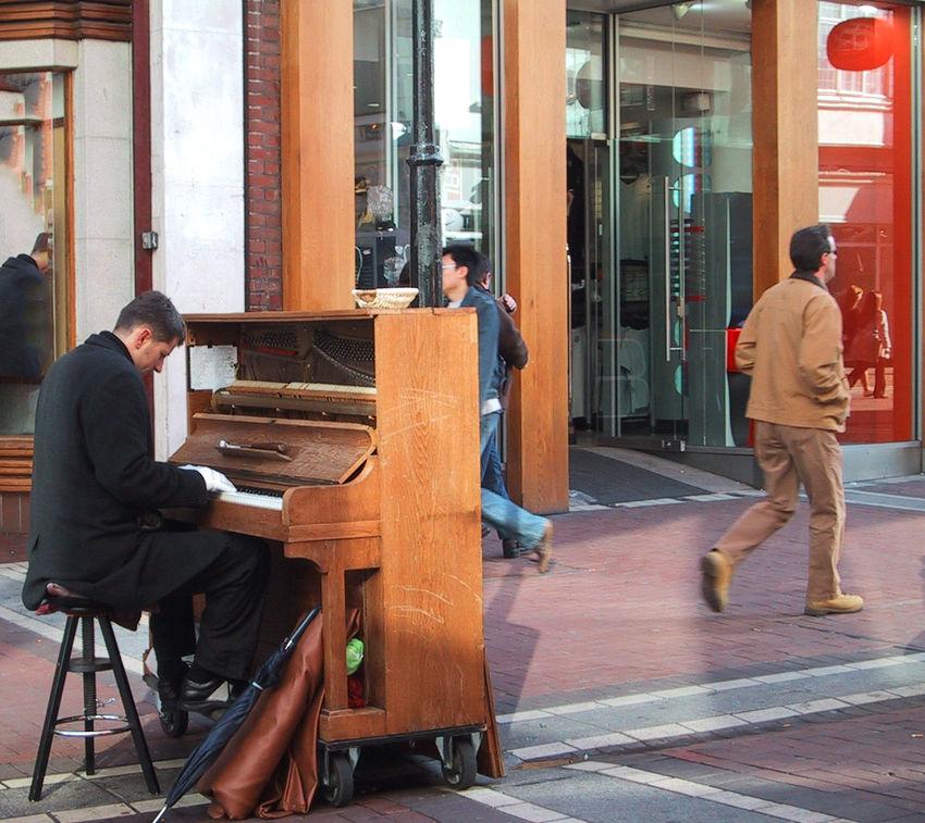 Al Fresco Concerto Dublin Dublin Street Photography Grafton Street Pianist Piano Street Photography Individuality The Street Photographer - 2016 EyeEm Awards